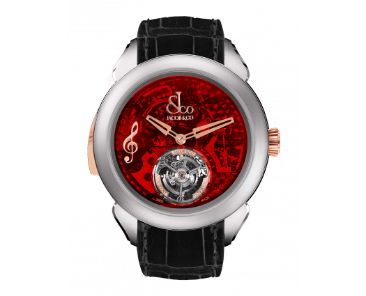 Palatial Flying Tourbillon Minute Repeater Titanium (Red Mineral Crystal)