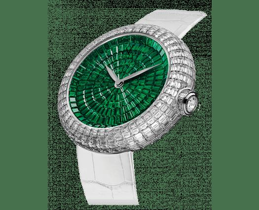 Brilliant Full Baguette Partial Emeralds 38mm