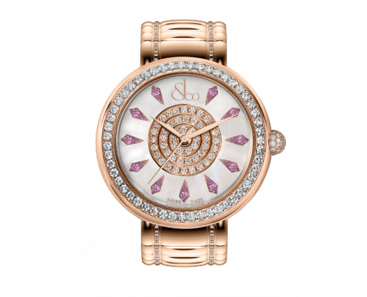 Brilliant One Row Rose Gold Couture Pink Sapphires 38mm