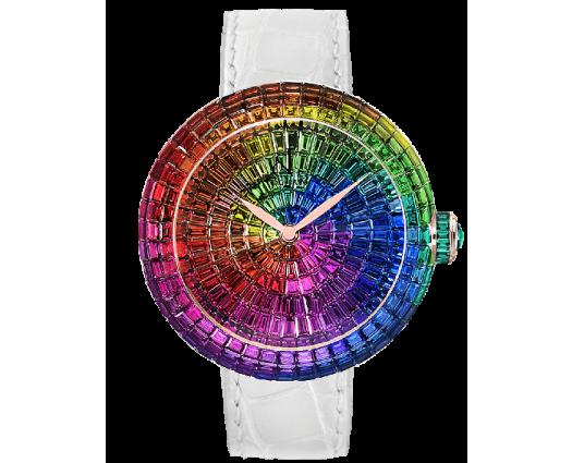 Brilliant Full Baguette Rainbow Multi-Colored Sapphires