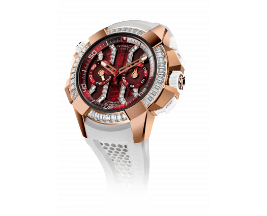 Epic X Chrono Baguette Rose Gold Red