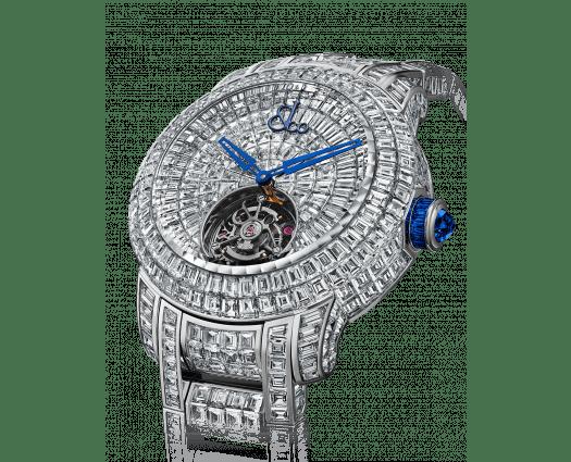 Caviar Tourbillon Diamond Bracelet Blue Crown