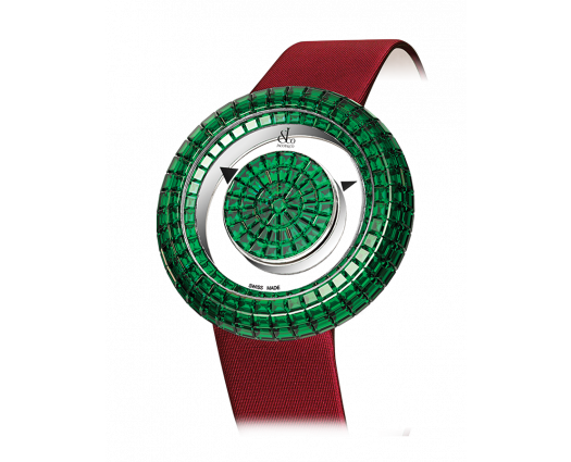Brilliant Mystery Baguette All Emeralds (38MM)