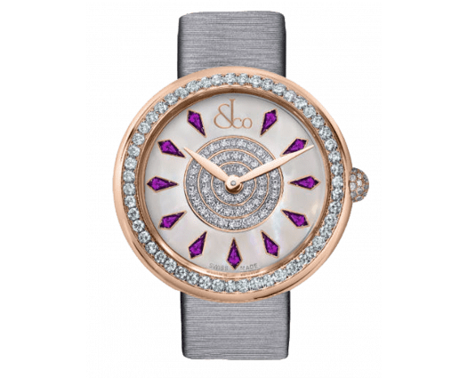 Brilliant One Row Rose Gold Amethyst Sapphires 44mm