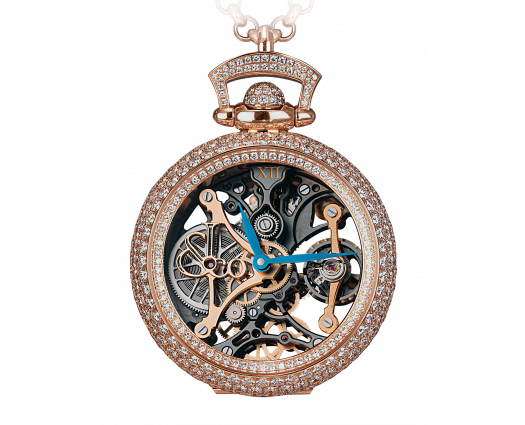 Brilliant Watch Pendant Northern Lights Pave Mineral Crystal Dial