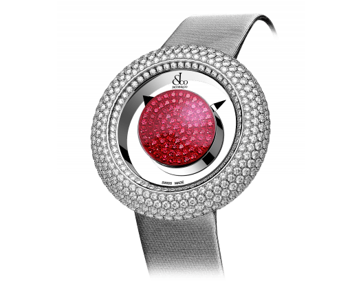 BRILLIANT MYSTERY BAGUETTE PAVE DIAMONDS AND RUBIES (38MM)