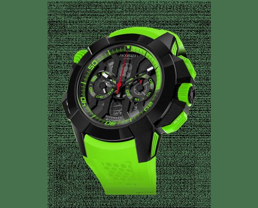 Epic X Chrono Black Titanium (Green Band)