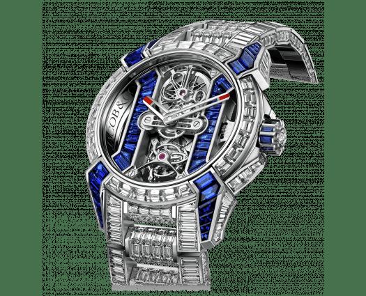 Epic X Tourbillon Baguette Blue Sapphires Diamond Bracelet