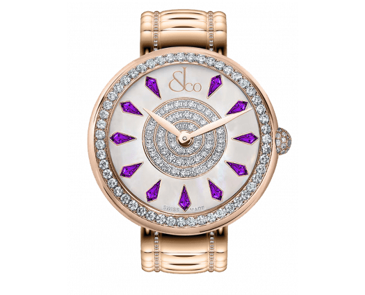 Brilliant One Row Rose Gold Couture Amethyst Sapphires 44mm