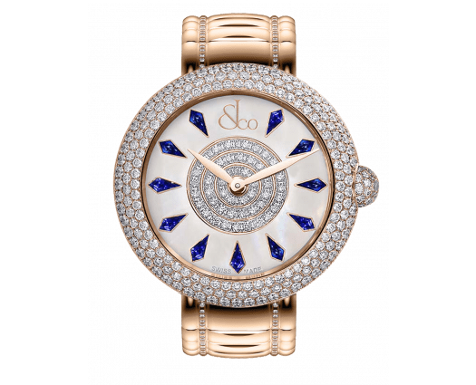 Brilliant Half Pave Rose Gold Couture Blue Sapphires 44mm