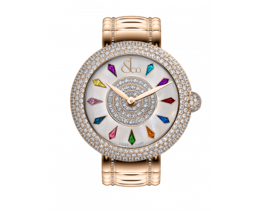 Brilliant Half Pave Rose Gold Couture 38mm