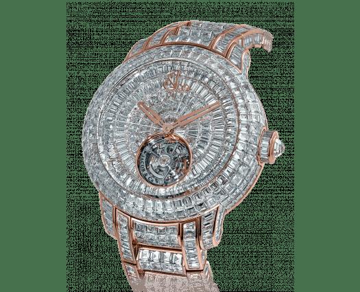 Caviar Tourbillon Diamond Bracelet Rose Gold