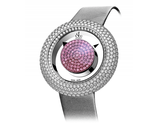 Brilliant Mystery Baguette Pave Diamonds And Pink Sapphires (38MM)