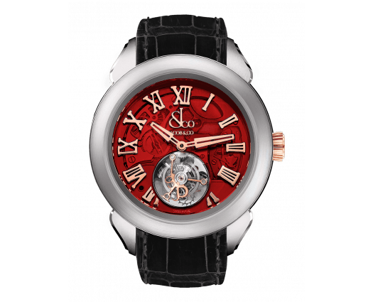 Palatial Flying Tourbillon Hours & Minutes Titanium (Red Mineral Crystal)