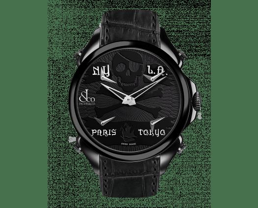 Palatial Five Time Zone Pirate Black PVD