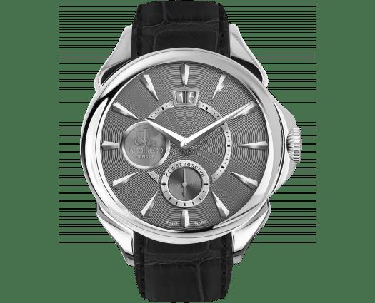 Palatial Classic Manual Big Date - Steel (Grey Guilloché Dial)