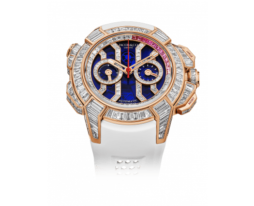 Epic X Chrono Baguette Blue Mineral Crystal Rose Gold