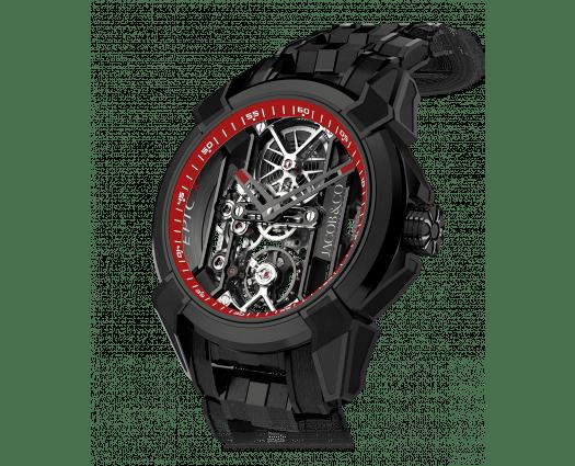 Epic X Black Titanium Bracelet (Red Neoralithe Inner Ring)