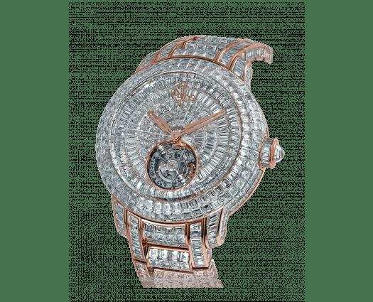 Caviar Tourbillon Diamond Bracelet Rose Gold 44mm