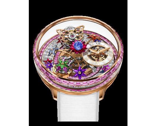 Fleurs De Jardin Pink Sapphires Baguette Diamonds