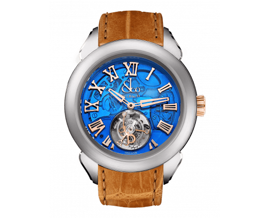 Palatial Flying Tourbillon Hours & Minutes Titanium (Blue Mineral Crystal)