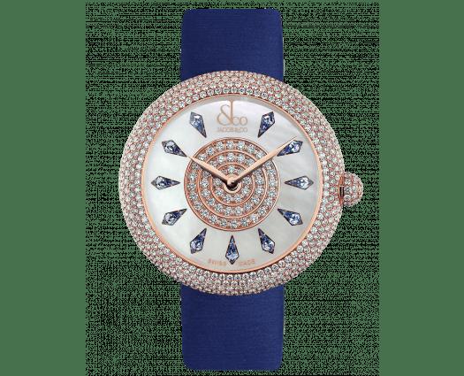 Brilliant Half Pave Rose Gold Blue Sapphires 44mm