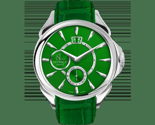 Palatial Classic Manual Big Date - Steel (Green Guilloché Dial)