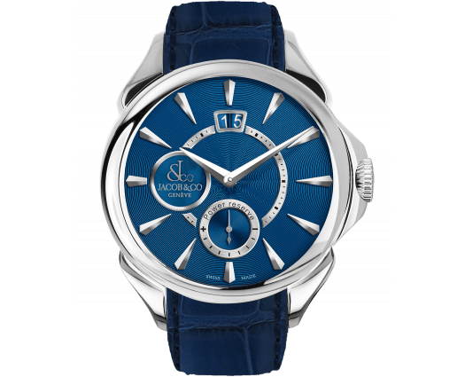 Palatial Classic Manual Big Date - Steel (Blue Guilloché Dial)