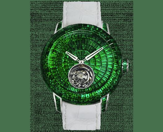 Caviar Tourbillon Baguette Emeralds