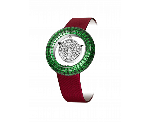BRILLIANT MYSTERY BAGUETTE DIAMONDS AND EMERALDS (38MM)