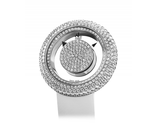 Brilliant Mystery Pave Diamonds White Gold (38MM)