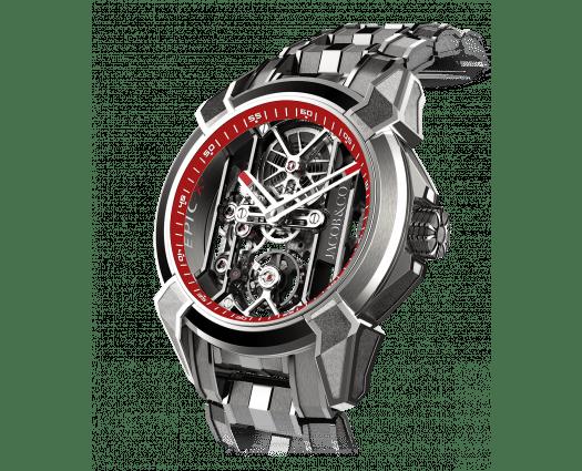 Epic X Titanium Bracelet (Red Neoralithe Inner Ring)