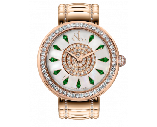 Brilliant One Row Rose Gold Couture Tsavorites 44mm