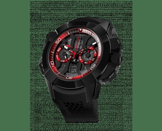 Epic X Chrono Black Titanium (Black Dial, Red Inner Rings)