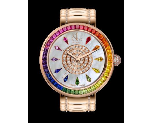 Brilliant Rainbow Rose Gold Bracelet