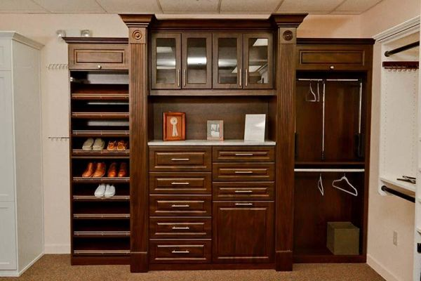 Custom Master Closet   Wood Finish