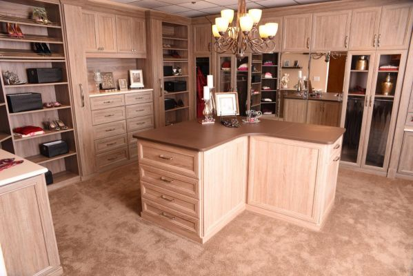 Wood Finish Walk-in Closet