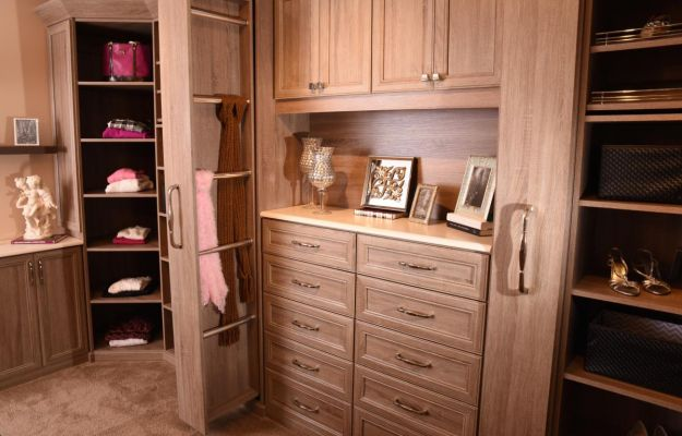 Closet Shelving - Wood Grain Finish