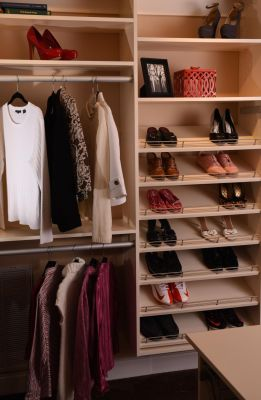 Walk-in Closet - White Finish