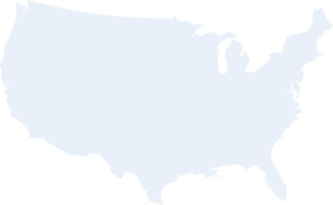 Image of the United States showing Visitor Sessions