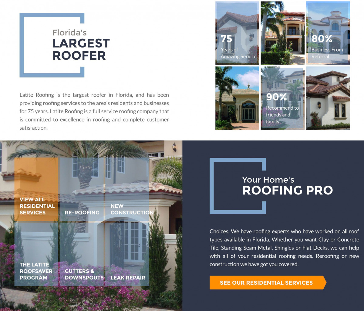 Image of website for Latite Roofing