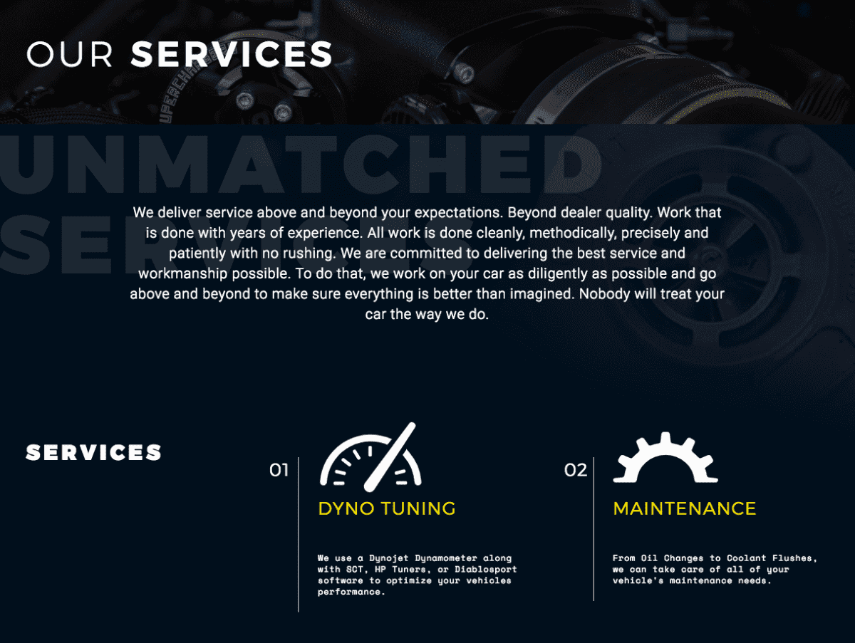 Image of website for Injected Engineering