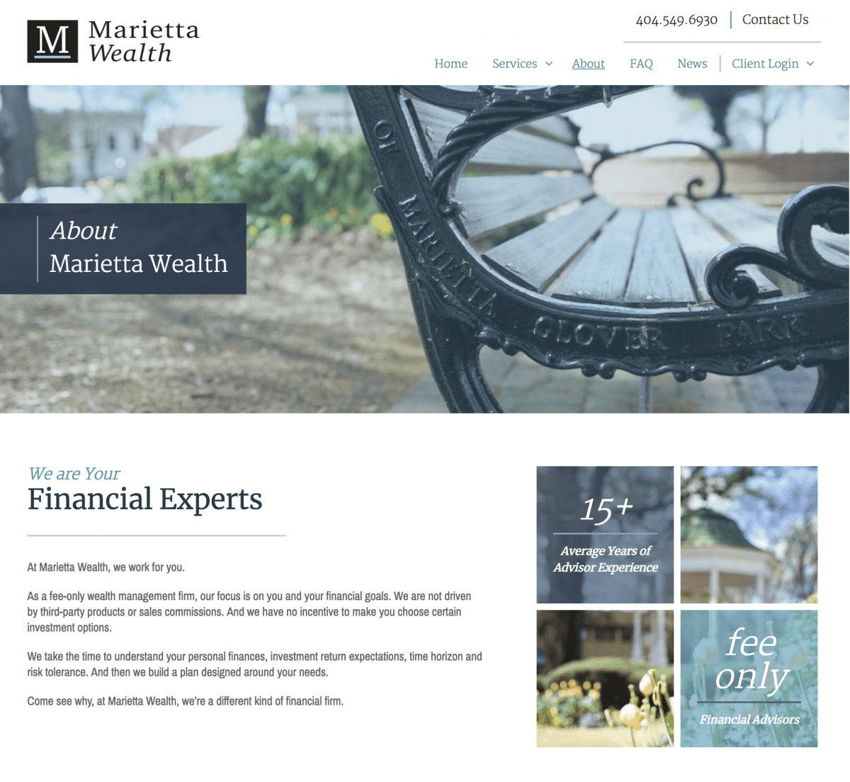 Image of website for Marietta Wealth