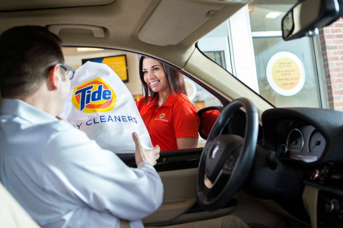 Image of website for Tide Dry Cleaners