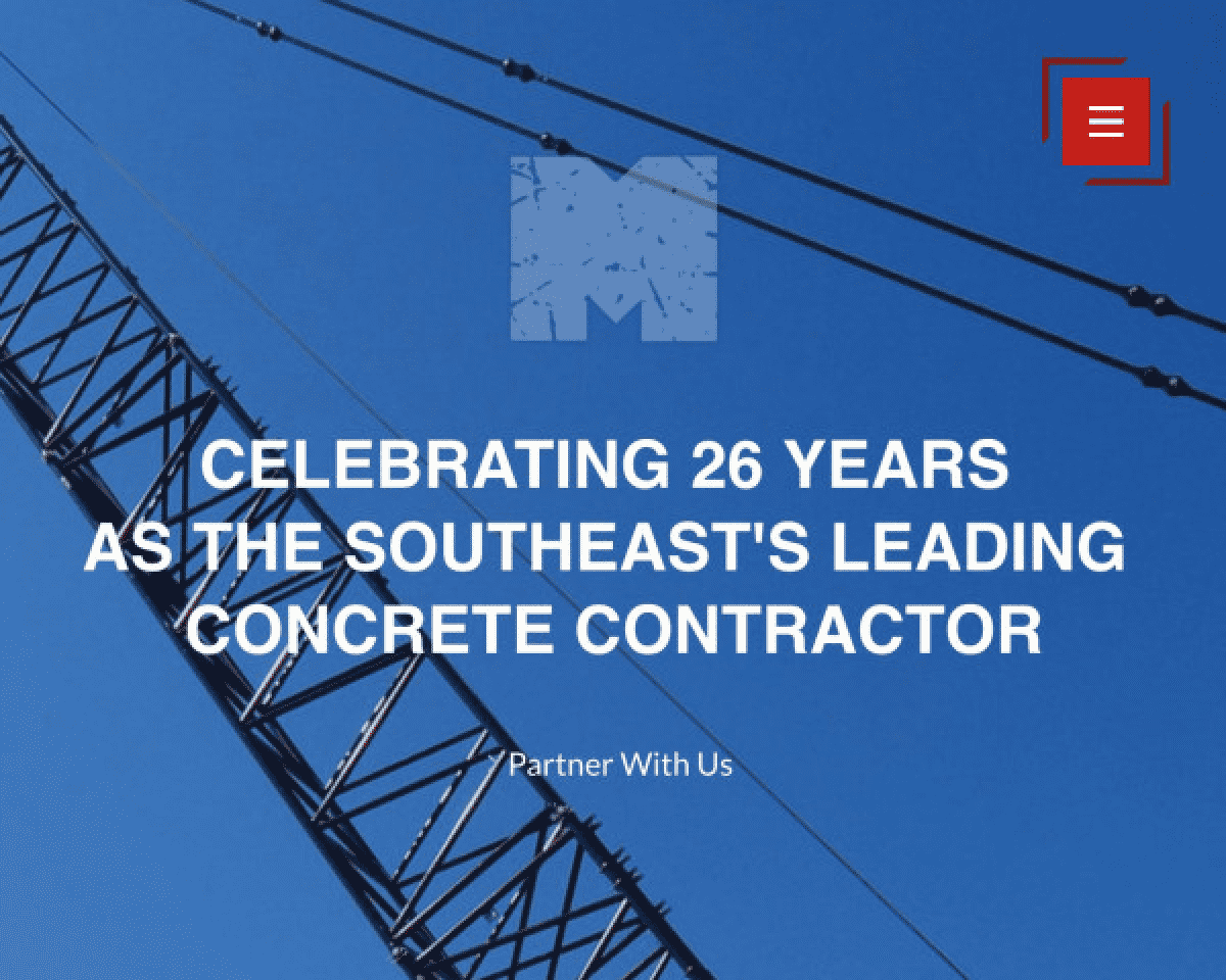 Image of website for Martin Concrete