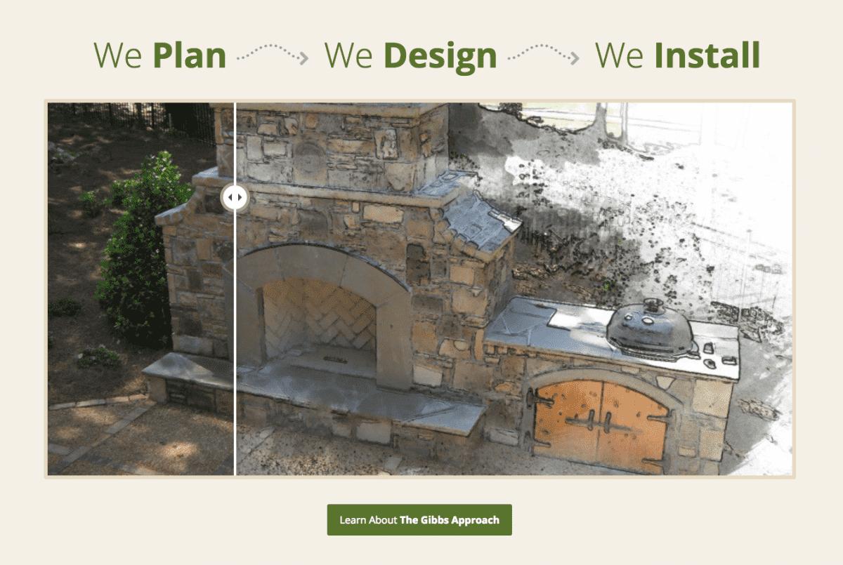 Image of website for Gibbs Landscape