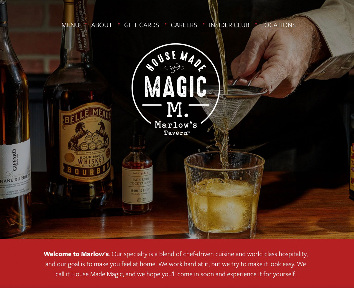 Image of website for Marlow's Tavern