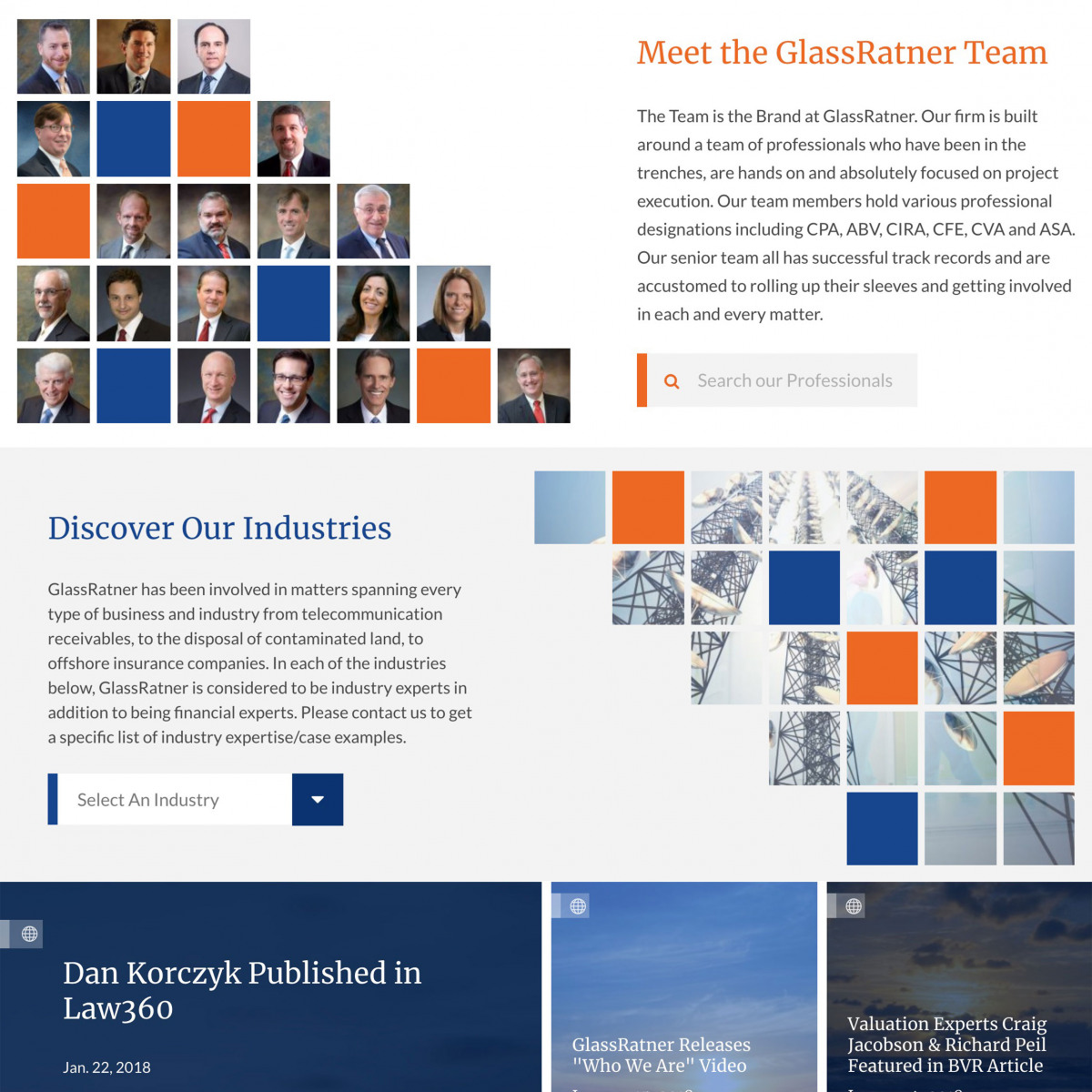 Image of website for GlassRatner