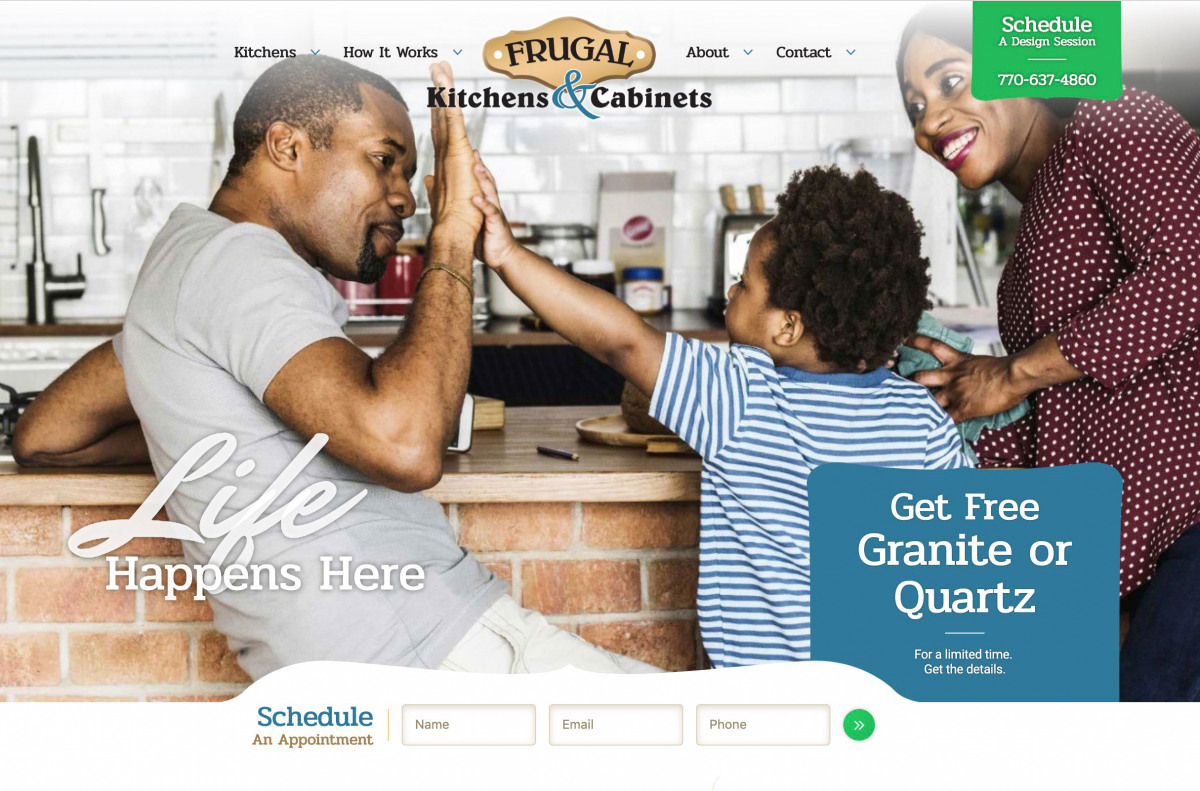 Image of website for Frugal Kitchens