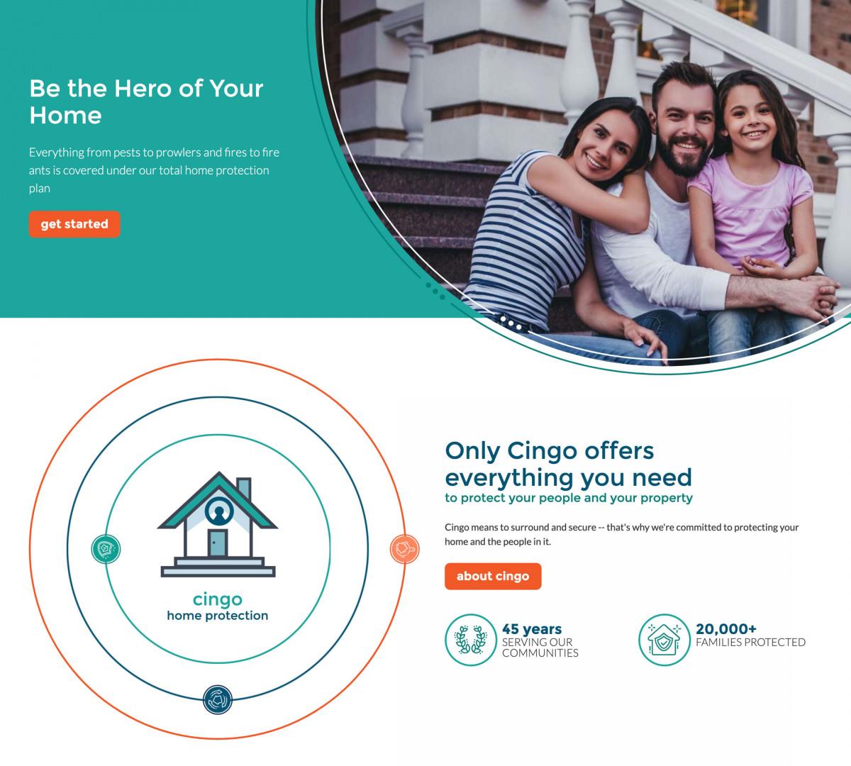 Image of website for Cingo